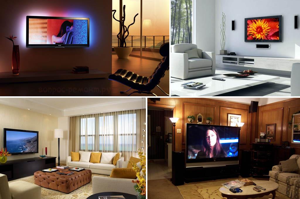 Современные телевизоры в интерьере