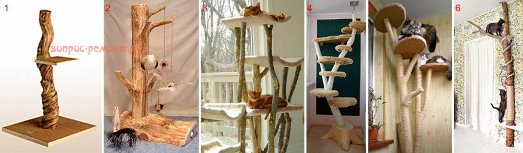 Когтеточки для кошек из дерева