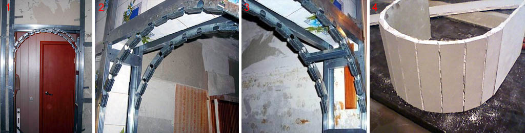 К изготовлению гипсокартонной арки без технологических перерывов