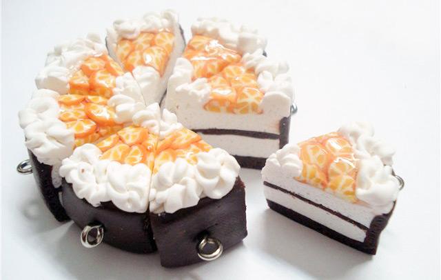 Имитация торта из пластики