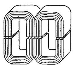 Броневой магнитопровод с немагнитным зазором