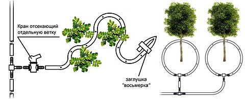 Укладка садовых лент капельного орошения