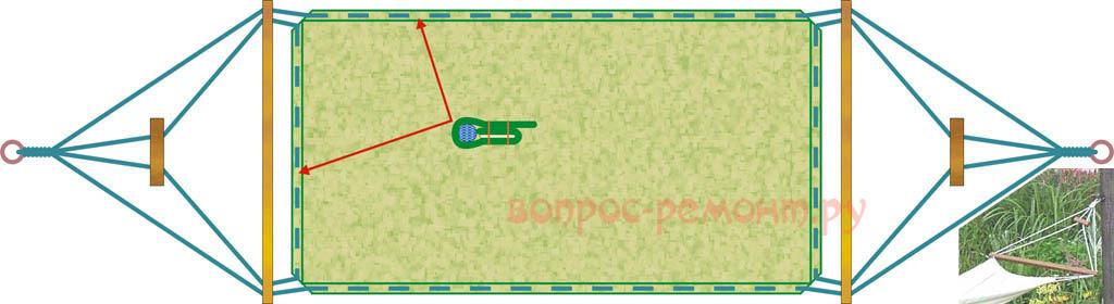 Упрощенный гамак на легко регулируемом подвесе
