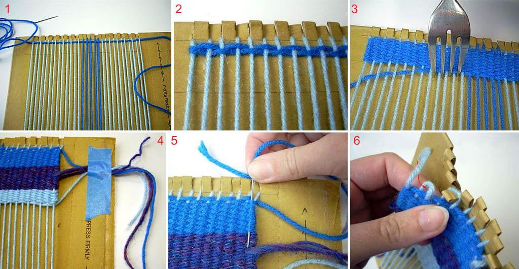 Как соткать коврик без станка