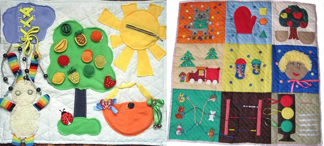 Правильно выполненные развивающие коврики для детей