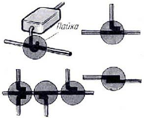 Пайка навесных компонент радиоэлектроники