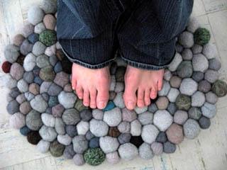 Коврик из искусственных камней