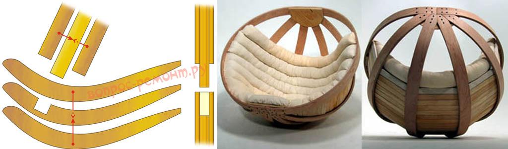 Использование фанеры для изготовления кресла-качалки