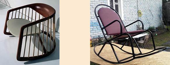 Кресла-качалки с дугообразным задним упором