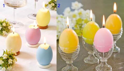 Самодельные домашние пасхальные свечи