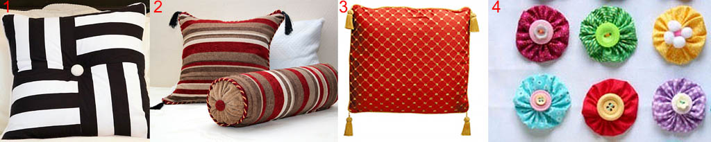 Ключевые элементы в декоре подушек