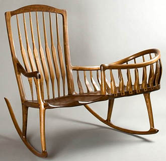 Rocking chair with a cradle