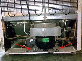 Подвес компрессора бытового холодильника