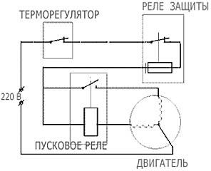 Электрическая схема холодильника с ручной разморозкой