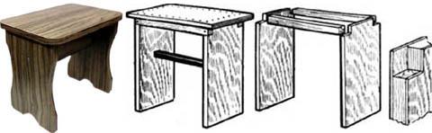 Табуретки из подручных материалов