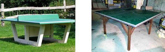 Излишне прочные и массивные теннисные столы