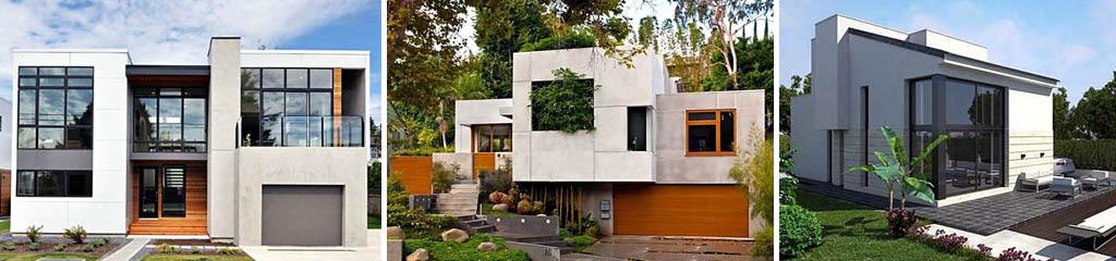 Дома, облицованные бетонными панелями