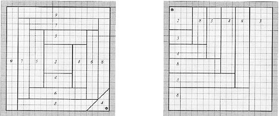 Простые схемы блоков для пэчворка