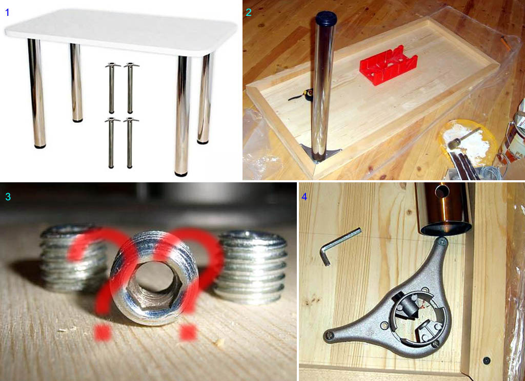 Изготовление кухонного стола без подстольника