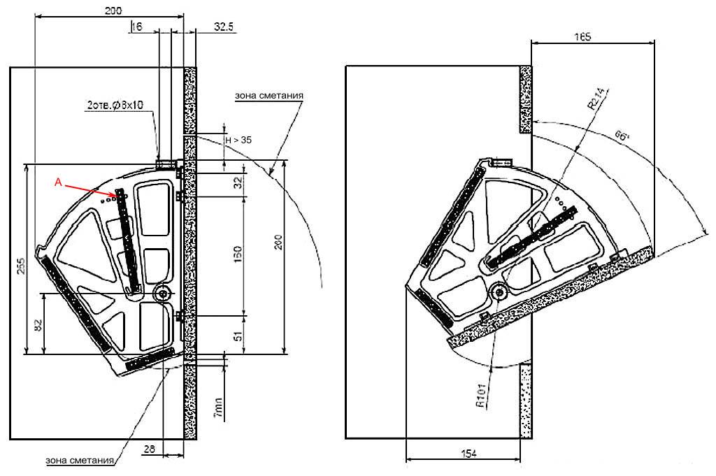 Схема подставок под обувь