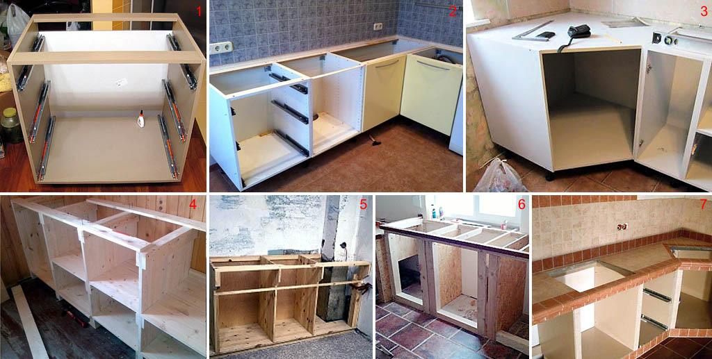Конструкции кухонных гарнитуров
