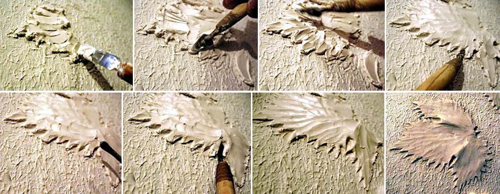Лепка из гипса на стене своими руками фото 19
