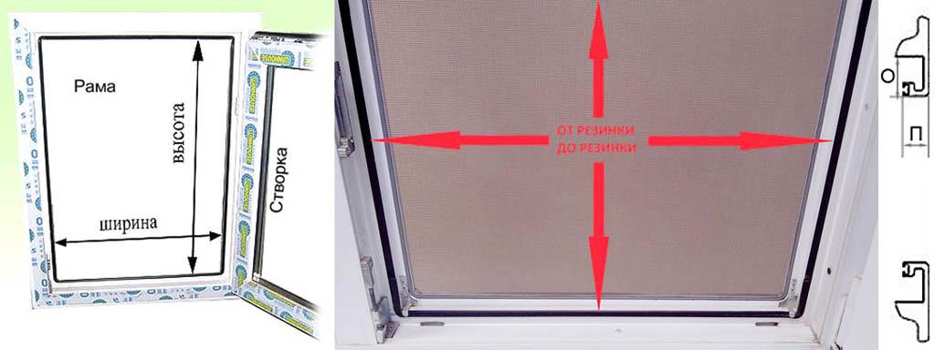Замеры оконного проема под установку противомоскитной сетки