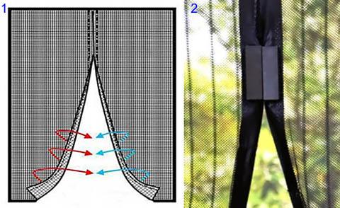 Противомоскитная сетка на магнитах для балконной двери