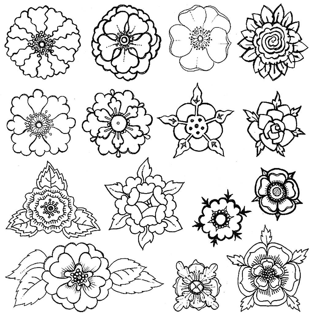 Шаблоны цветов для декорирования стен