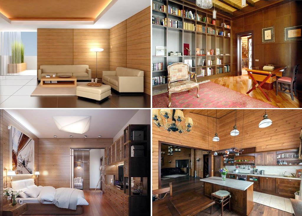 Жилые комнаты, отделанные вагонкой