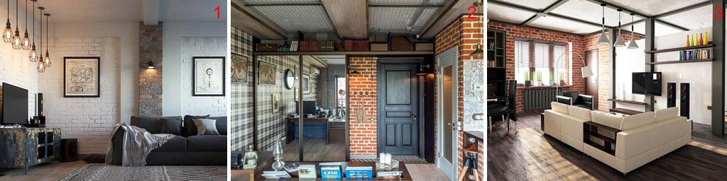 Интерьеры маленьких квартир в стиле лофт