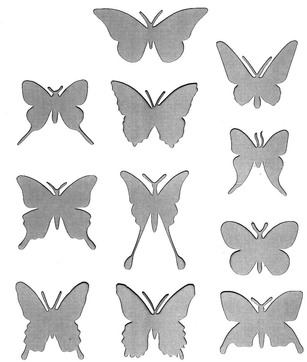Шаблоны бабочек для декорирования стен