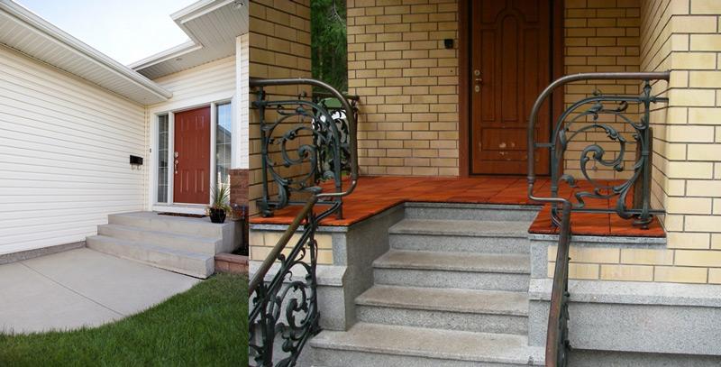 Дома с бетонным крыльцом