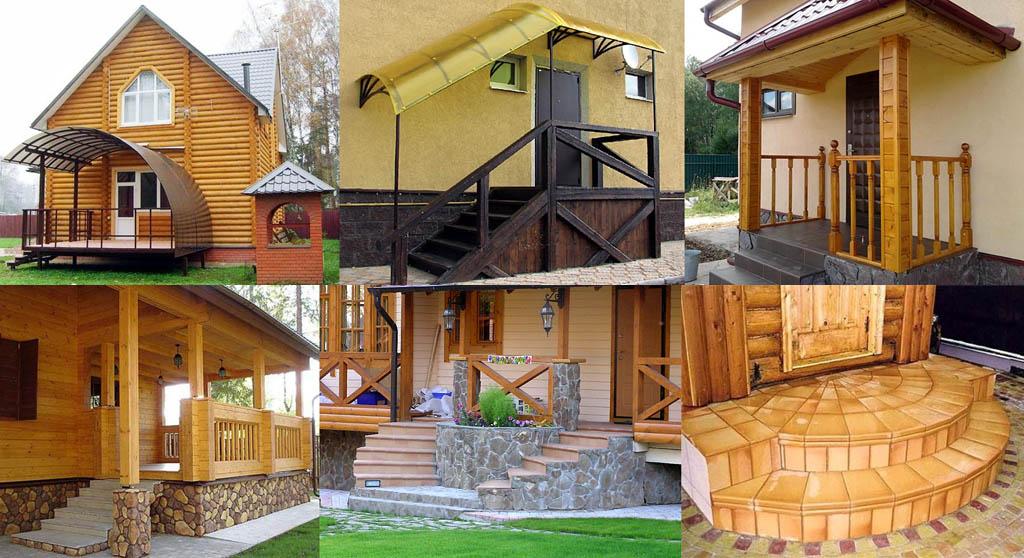 Фото домов с крыльцом
