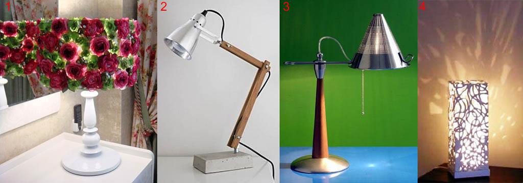 настольный светильник лампа своими руками