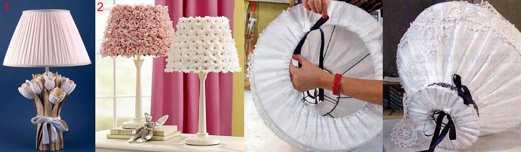 Текстильные абажуры настольных ламп