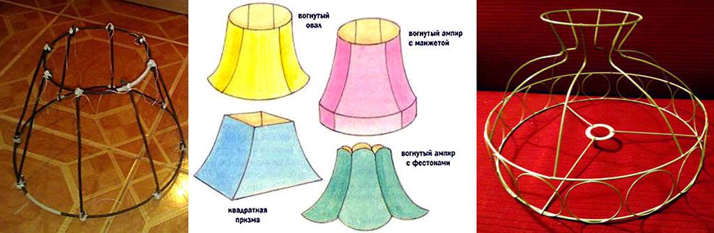 Каркасы абажуров настольных ламп