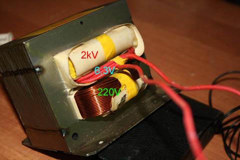 Трансформатор электропитания микроволновой печи