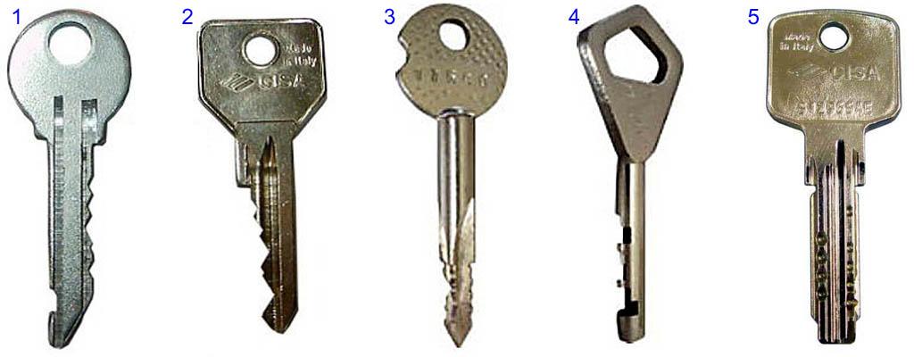 Ключи от замков с цилиндровым механизмом