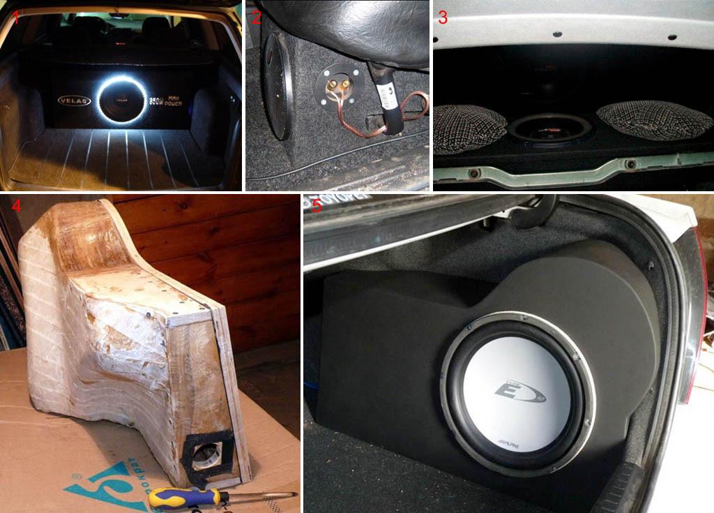 Автомобильные сабвуферы