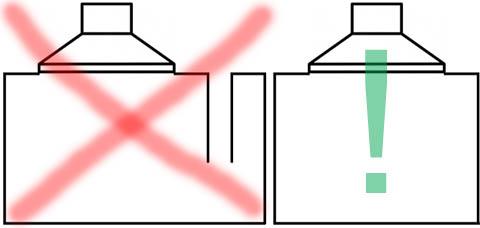 Неправильный и правильный способы измерения эквивалентного объема головки громкоговорителя
