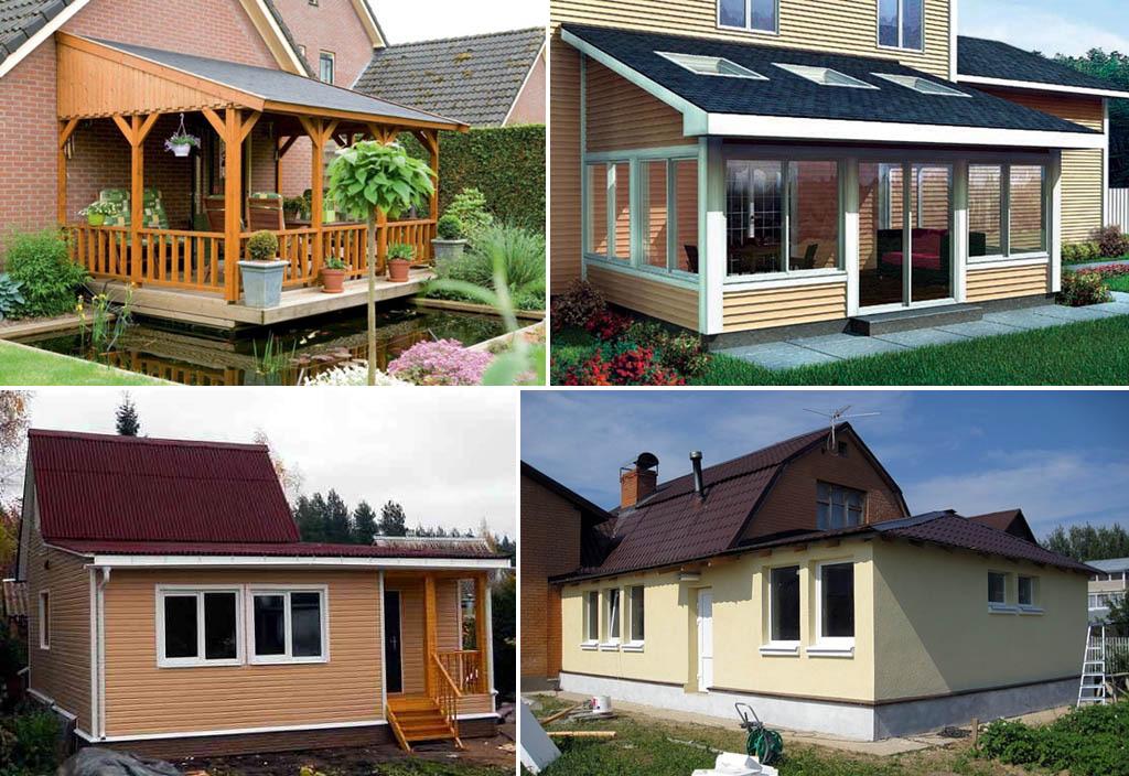 Типы пристроек к индивидуальному дому