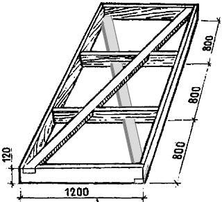 Конструкция рамы щита для каркасно-щитовой пристройки к дому
