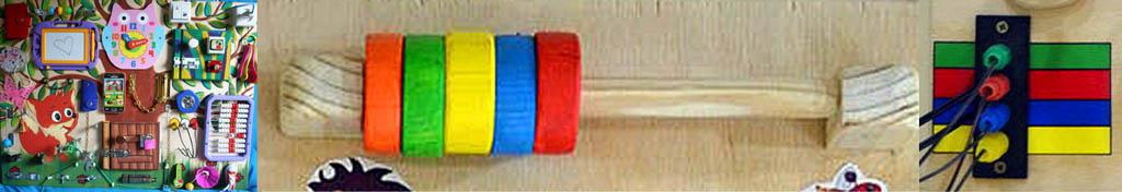 Неправильная раскраска бизиборда и элементы для развития цветового зрения на нем