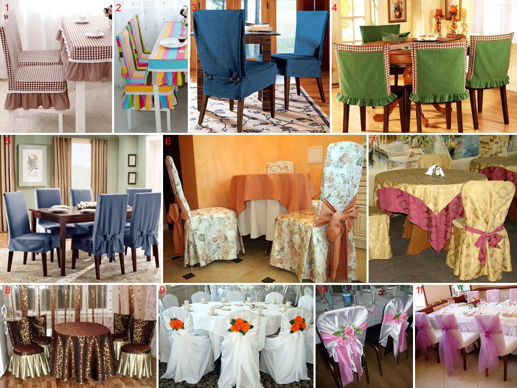 Разновидности чехлов на стулья