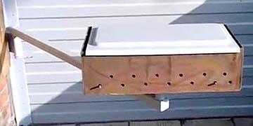 Мини-мангал на повоортном кронштейне