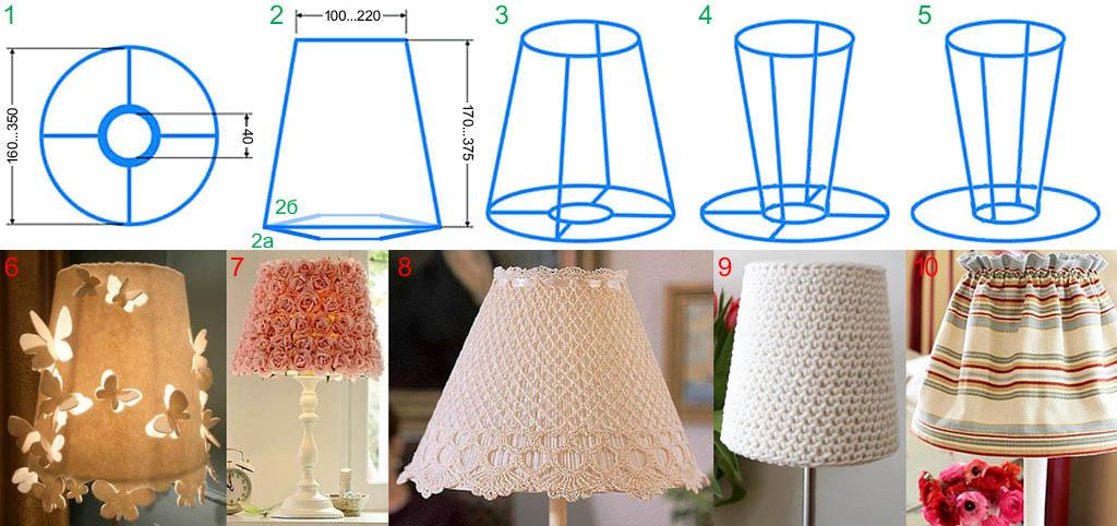 Как сделать абажур своими руками для светильника 22