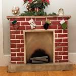 Новогодний камин из коробок: простой наскоро, красивый надолго, и даже с настоящим огнем