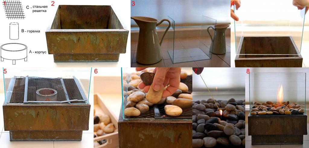 Как своими руками сделать био камин