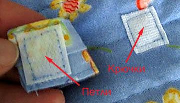 Крючьевая и ответная петельная части застежки-липучки